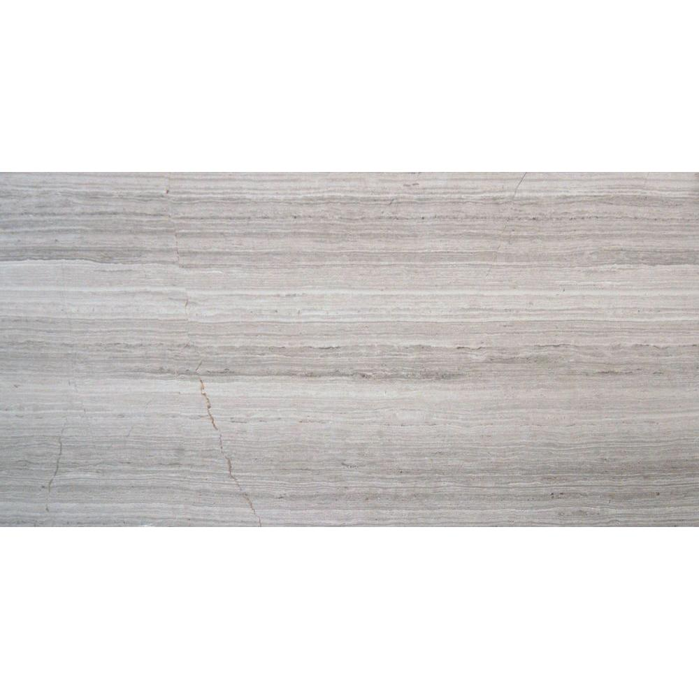 MS International White Oak 3 in. x 6 in. Honed Marble Floor and ...