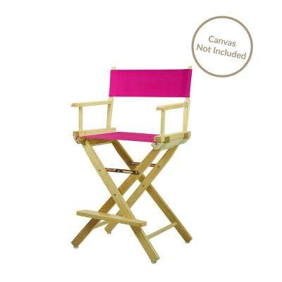 24 in. Director's Chair Natural Solid Wood Frame