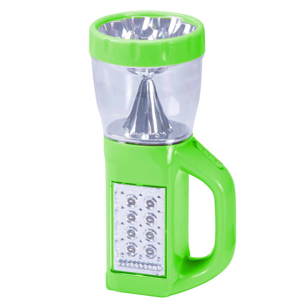 3-in-1 LED Camping Lantern Flashlight, Neon Green