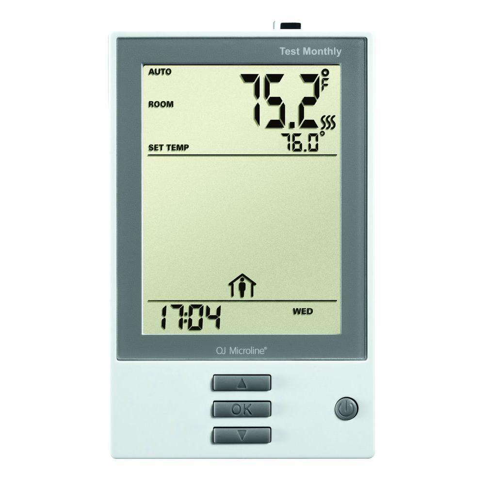 oj electronics 5 2 day programmable thermostat udg 4999 the home depot rh homedepot com White Rodgers Thermostat Operating Manuals true comfort thermostat instructions
