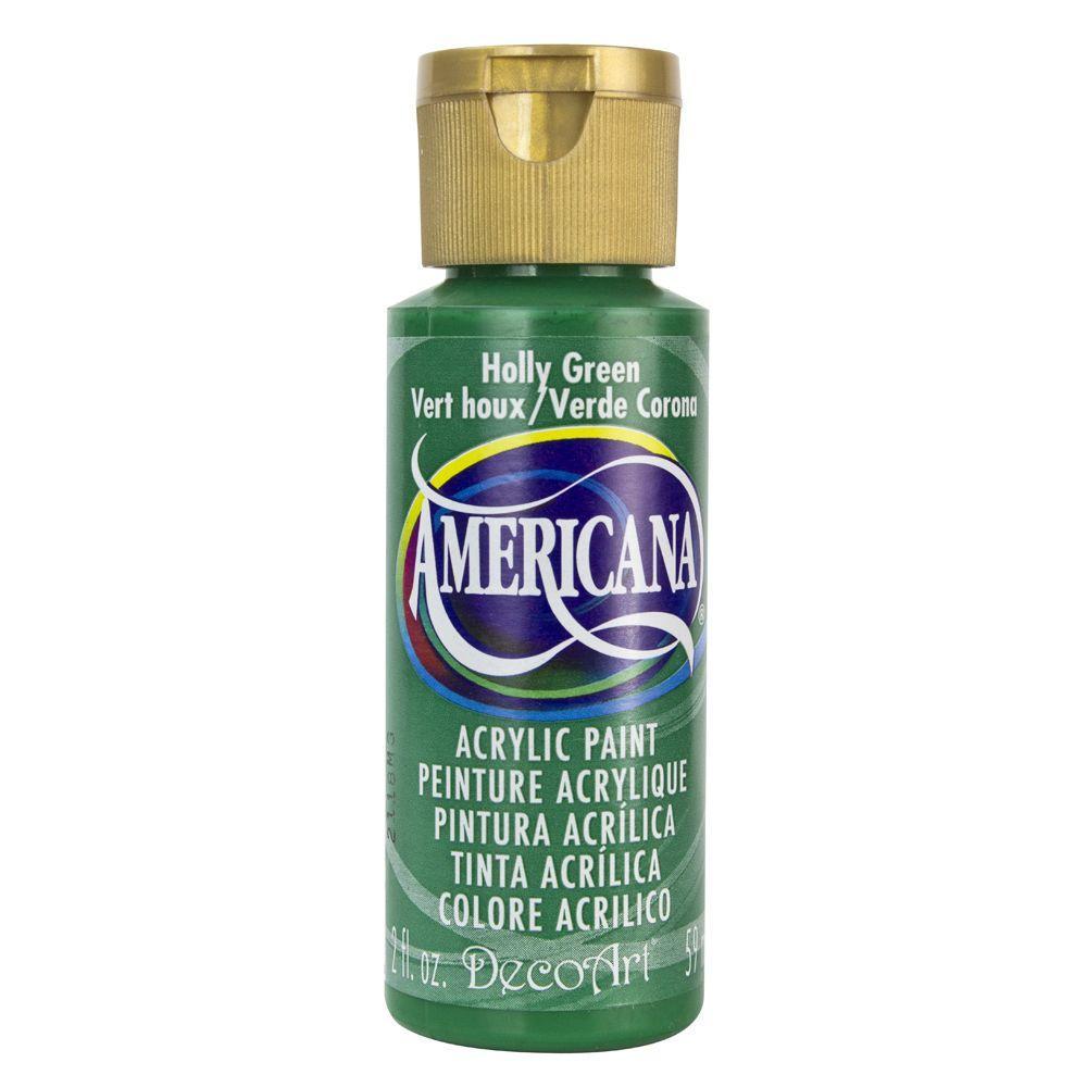 Americana 2 oz. Holly Green Acrylic Paint