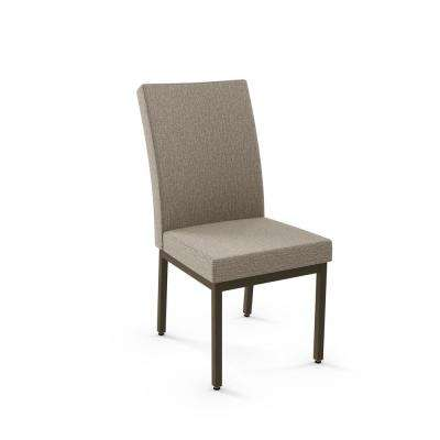 Pacey Dark Grey and Brown Metal Dining Chair (Set of 2)
