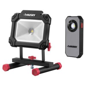 Deals on Husky 1500 Lumen Portable Worklight & 300 Lumen Pocket Light