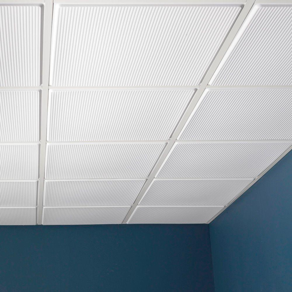 Genesis 2 Ft X 2 Ft Contour Pro Revealed Edge Lay In Ceiling Tile