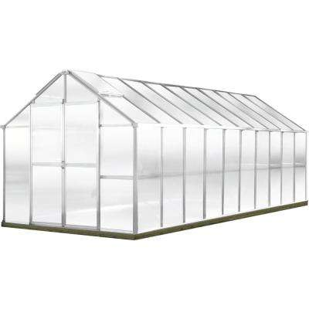 Growers Edition 8 ft. 5 in. W x 20 ft. 7 in. D x 7 ft. 6 in. H Aluminum Greenhouse
