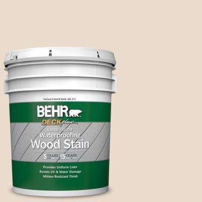 5 gal. #SC-157 Navajo White Solid Color Waterproofing Exterior Wood Stain