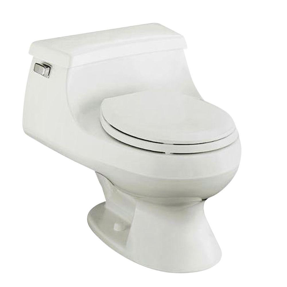 KOHLER Rialto 1-Piece 1.6 GPF Round Front Toilet with French Curve Toilet Seat and Left-Hand Trip Lever in White-DISCONTINUED