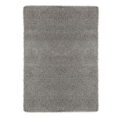 Contemporary Solid Grey 5 ft. x 7 ft. Shag Area Rug