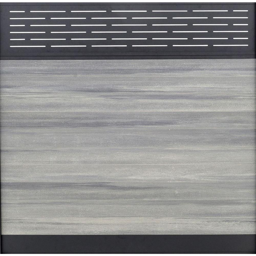 Euro Style 6 ft. H x 6 ft. W Lattice Top Oxford Grey Alum...