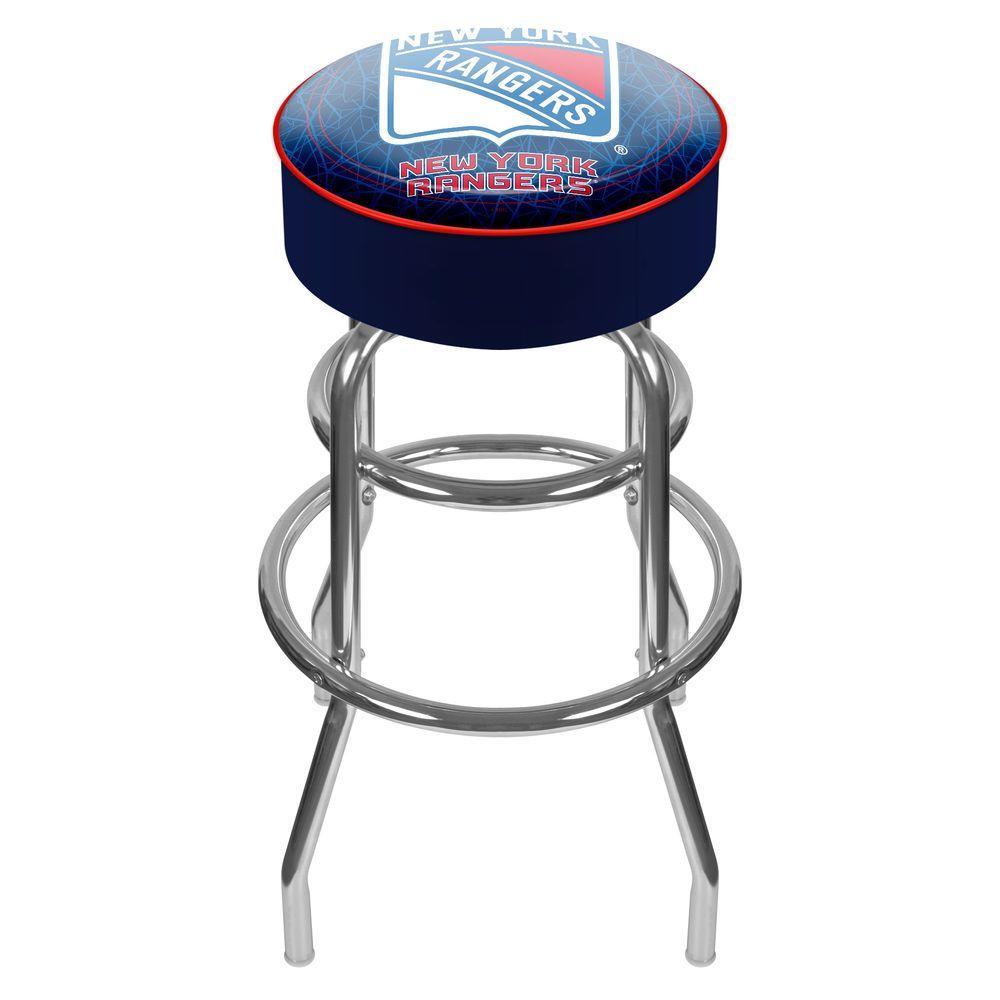 Trademark NHL New York Rangers Padded Swivel Bar Stool