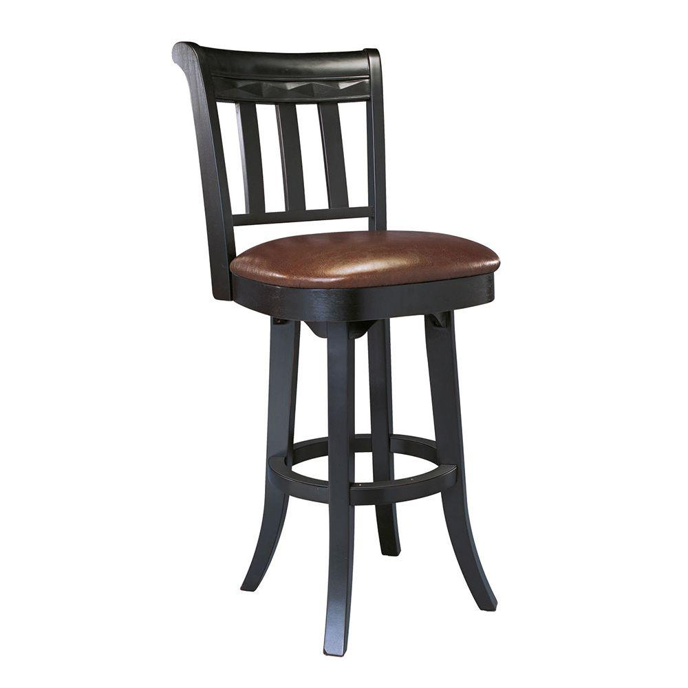 Grand Waters Martin 26 in. H Black Bar Stool-DISCONTINUED