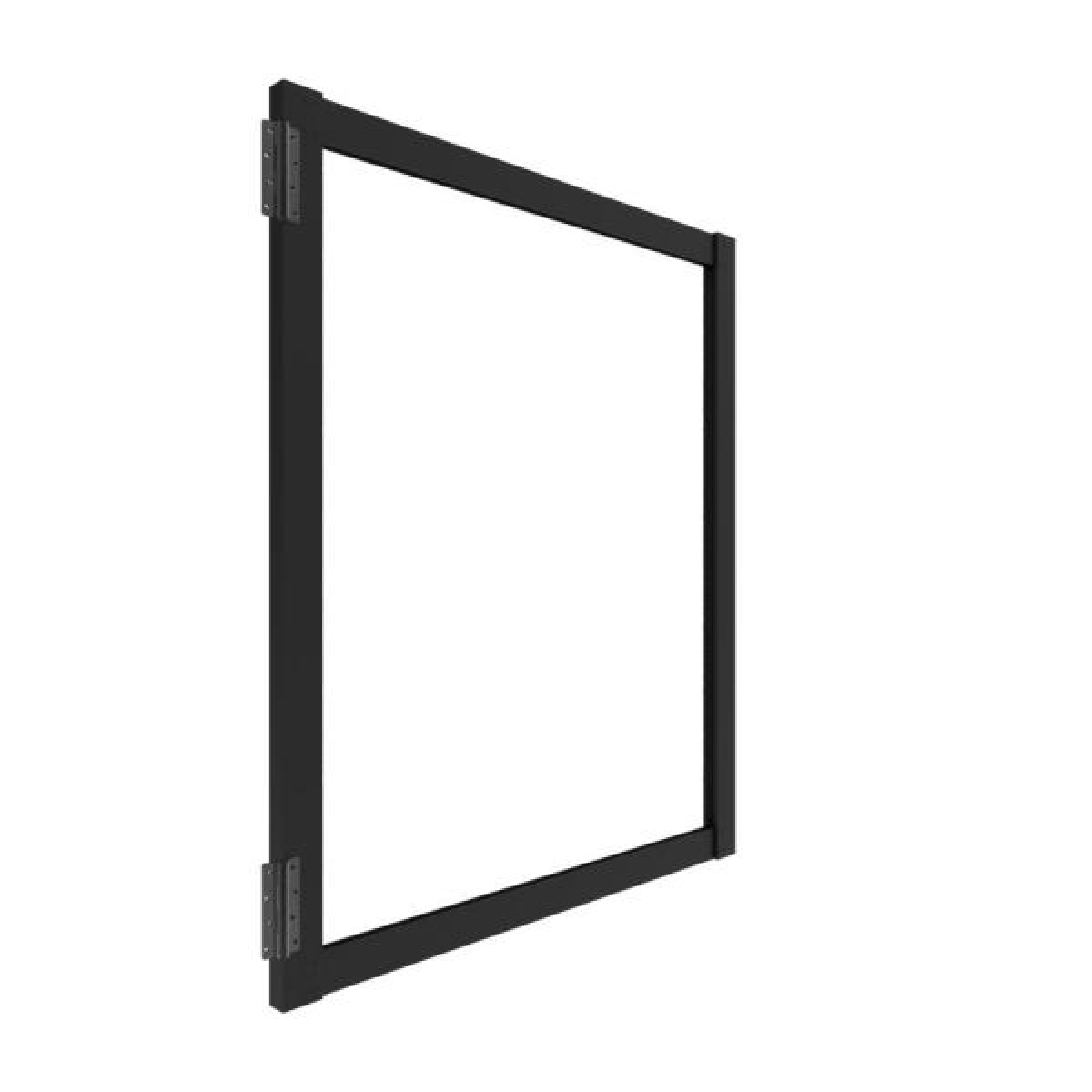 Urban 6 ft. x 5 ft. Matte Black Aluminum Fence Gate for Wood Infill