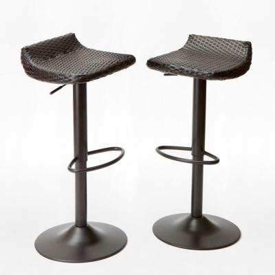 Woven Wicker Patio Bar Stool (2-Pack)
