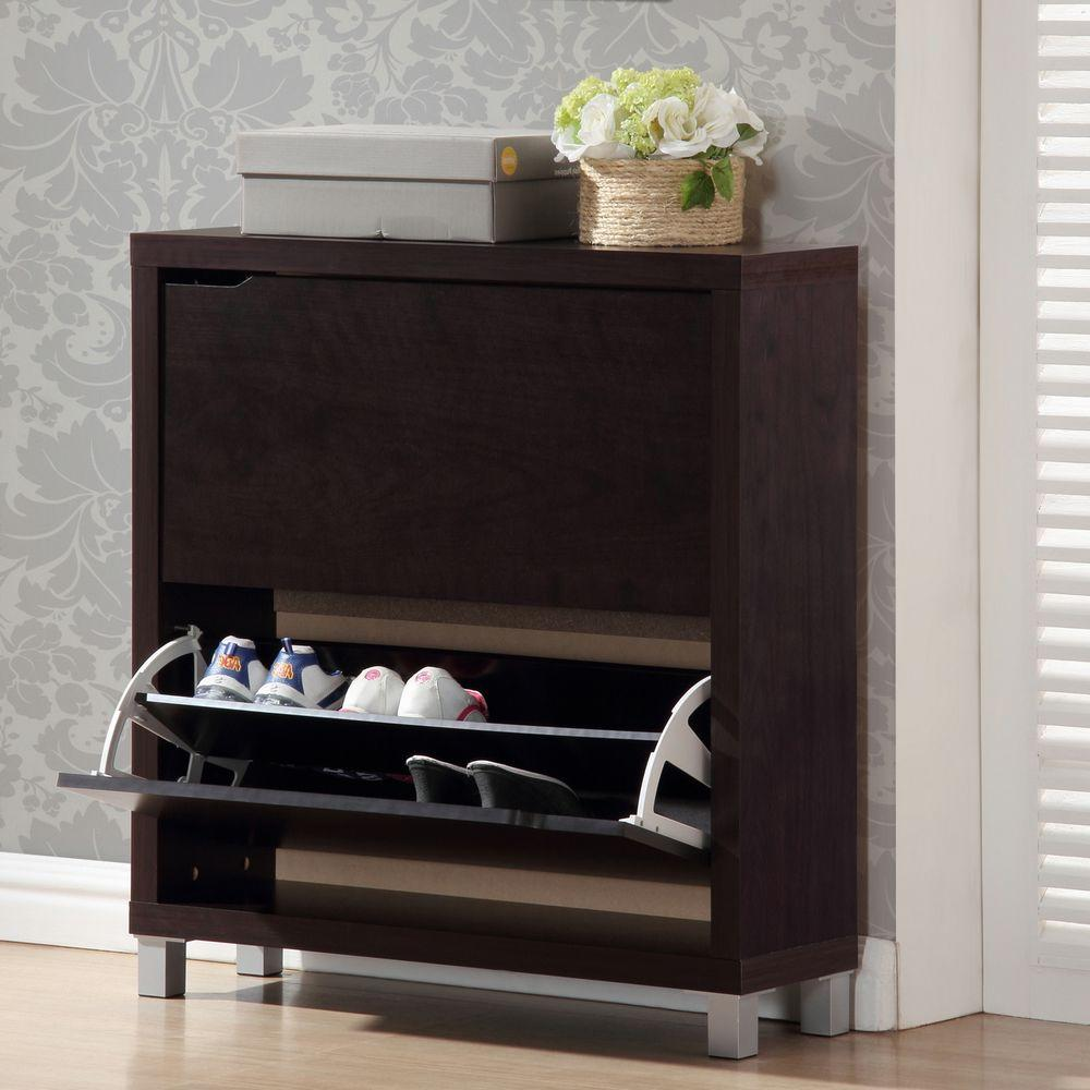 Baxton Studio Simms Dark Brown Cabinet
