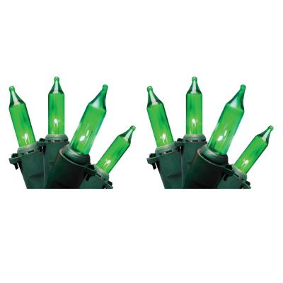 Professional Series 100-Lights Green Mini Light Set (Set of 2)