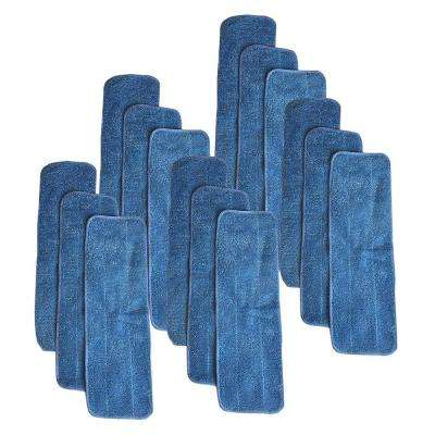 15-Pack Replacement Microfiber Mop Pads, Fits Bona Mops, Washable and Reusable, Compatible with Part AX0003053
