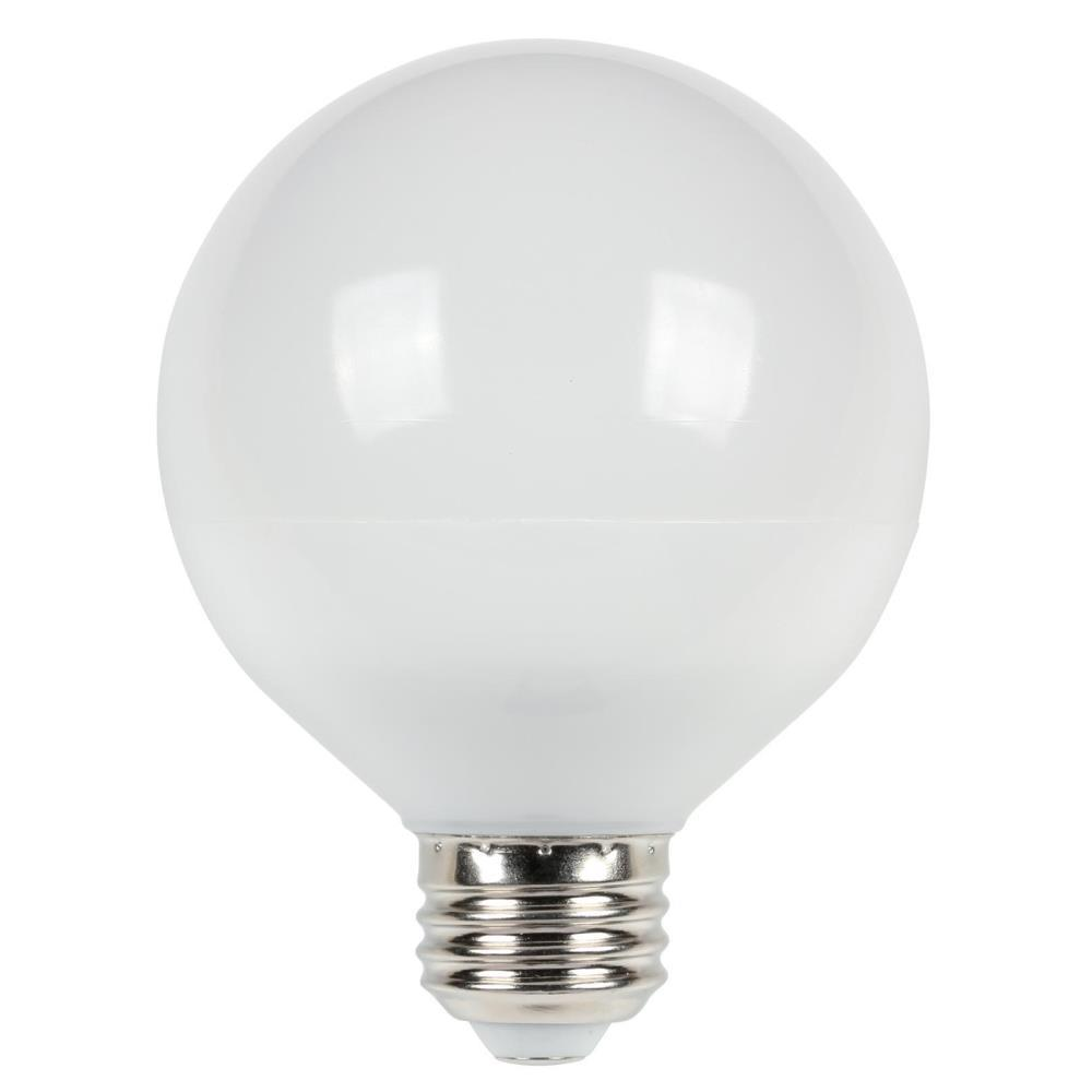 Westinghouse 75w Equivalent Cool Bright G25 Dimmable Led Light Bulb 5301100 The Home Depot