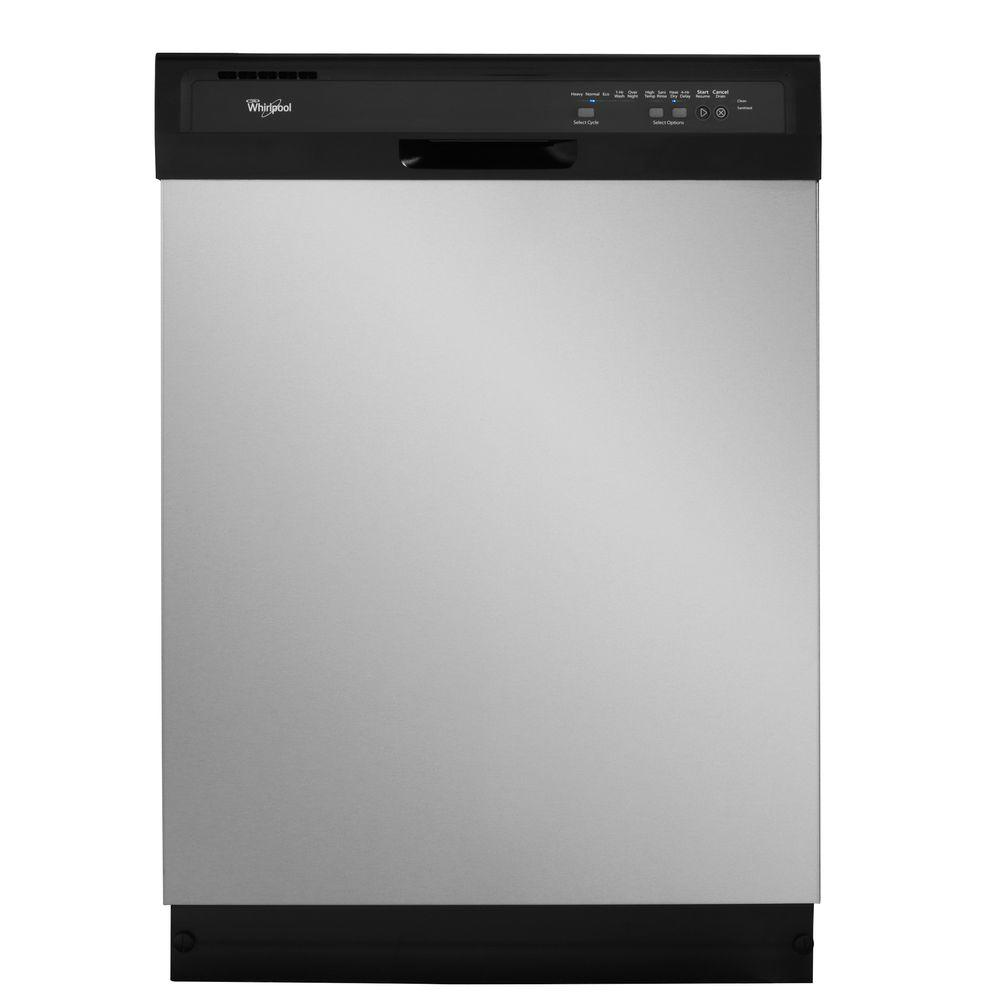 Whirlpool Front Control Dishwasher in Universal Silver