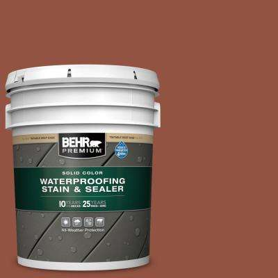 5 gal. #SC-130 California Rustic Solid Color Waterproofing Exterior Wood Stain and Sealer