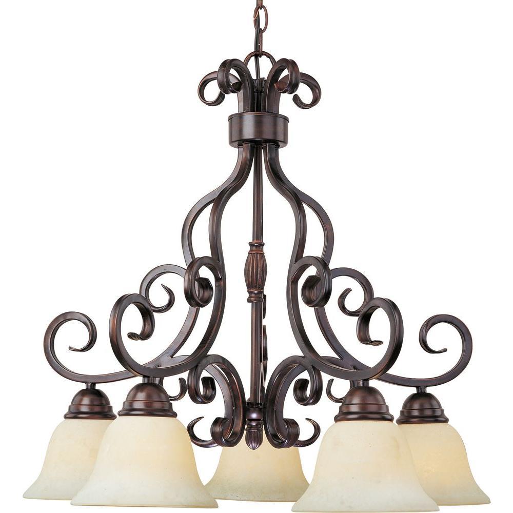 Maxim Lighting Manor 5-Light Oil Rubbed Bronze Chandelier