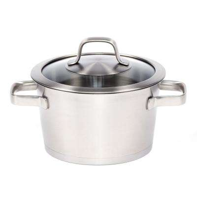 Manhattan 2.5 Qt. 18/10 Stainless Steel Casserole Dish with Glass Lid