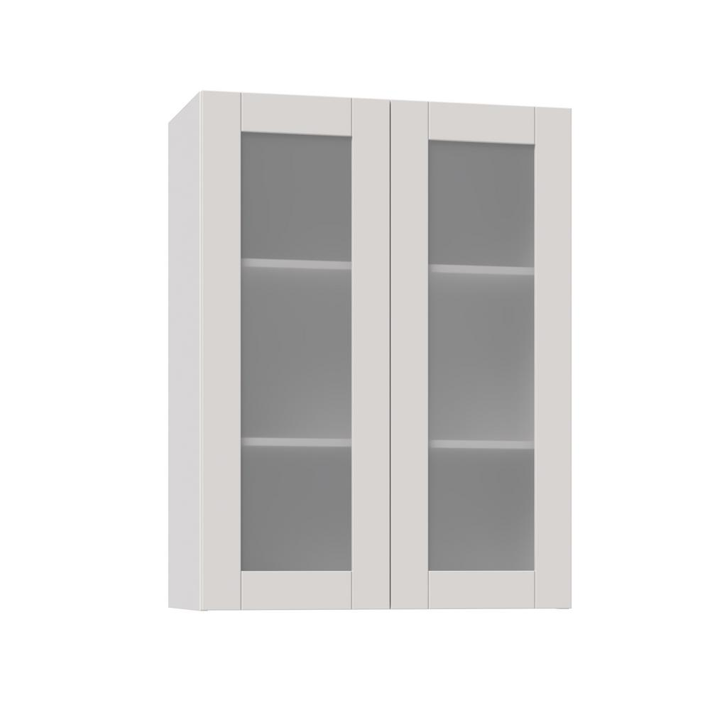 J COLLECTION Shaker Assembled 30x40x14 in. Wall Cabinet ...