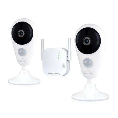 4-Channel 1080p HD Wireless Gateway Surveillance System w/ 2 AC Powered Indoor Wireless Cameras – Factory Reconditioned