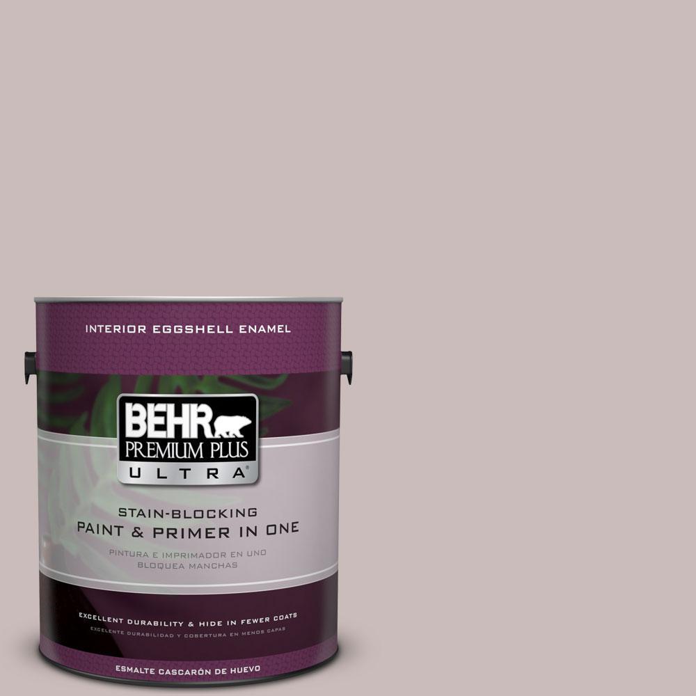 BEHR Premium Plus Ultra 1-gal. #750A-3 Vintage Taupe Eggshell Enamel Interior Paint