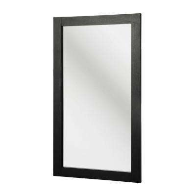 Kole 34 in. L x 19-3/4 in. W Framed Wall Mirror in Espresso