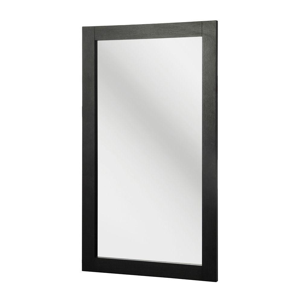 Kole 34 in. L x 20 in. W Framed Wall Mirror in Espresso