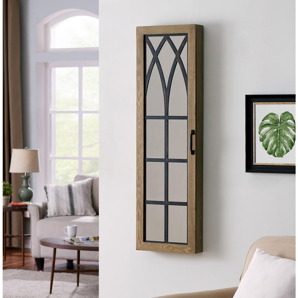 Firstime Co 43 In Rustic Arch Jewelry Armoire 81007 The Home Depot