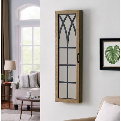 43 in. Rustic Arch Jewelry Armoire