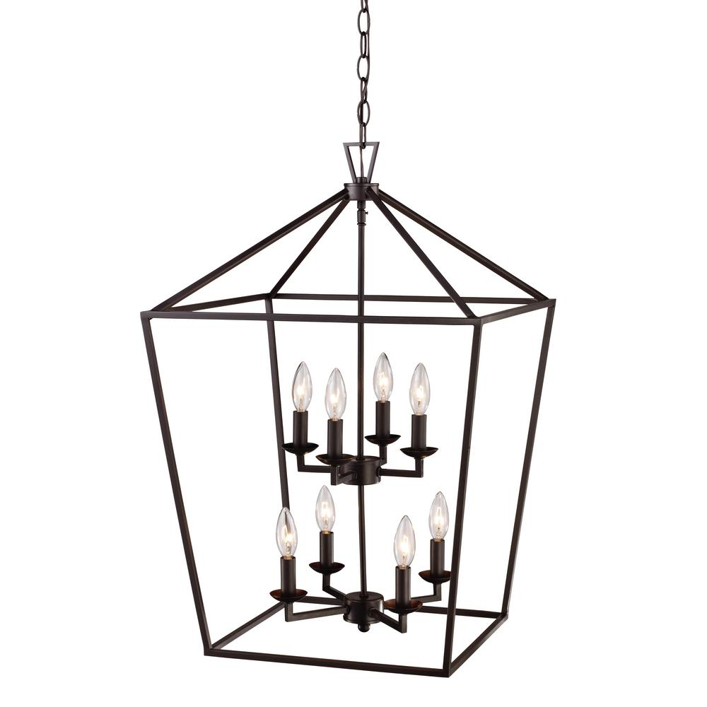 Bel Air Lighting Lacey 8-Light Rubbed Oil Bronze Pendant