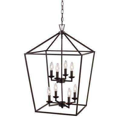 Lacey 8-Light Rubbed Oil Bronze Pendant
