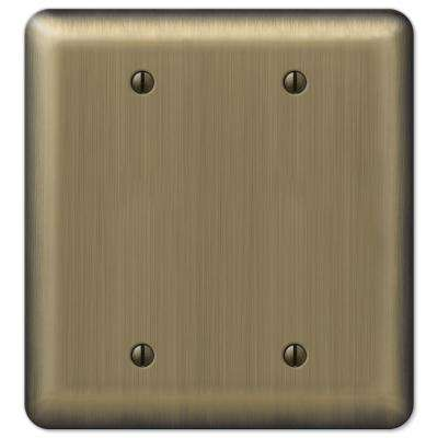 Brass 2-Gang Blank Plate Wall Plate (1-Pack)