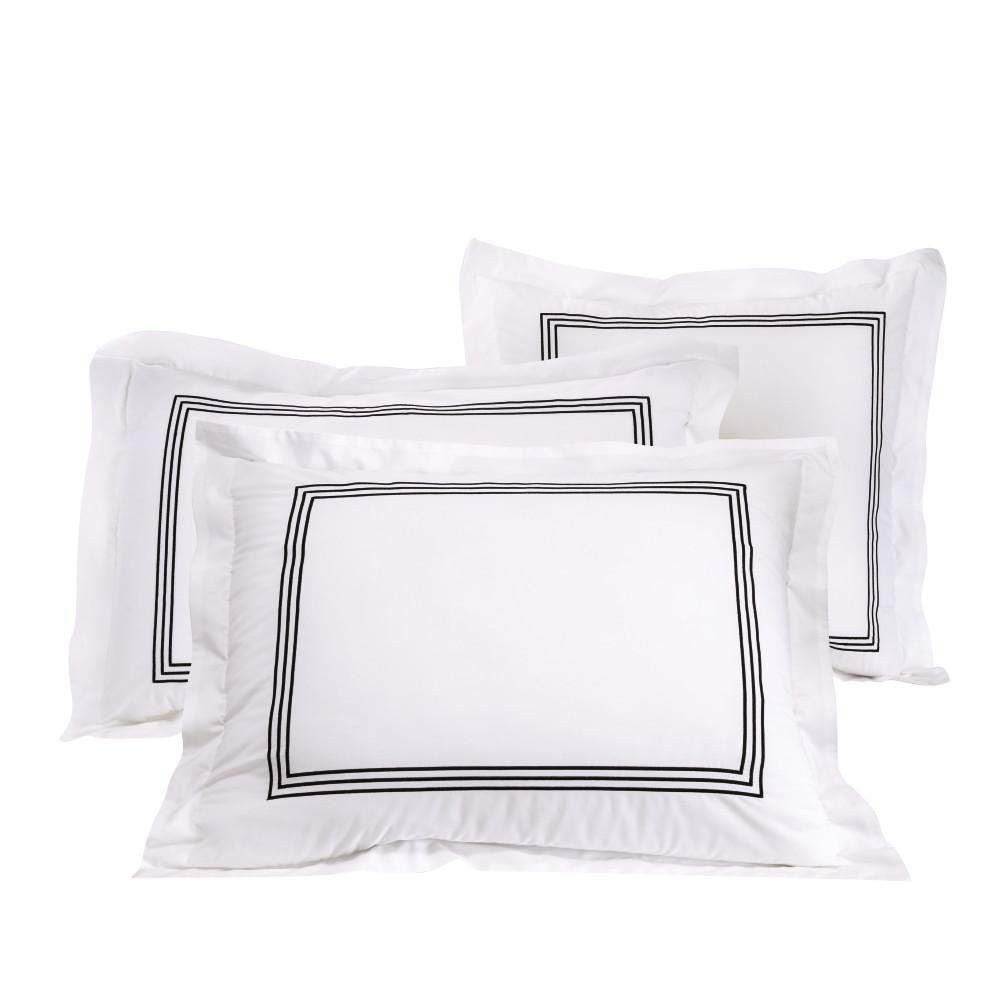 Monaco Black Standard Sham Set (2-Pack)