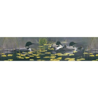 Black Duck Pond Wallpaper Border Sample