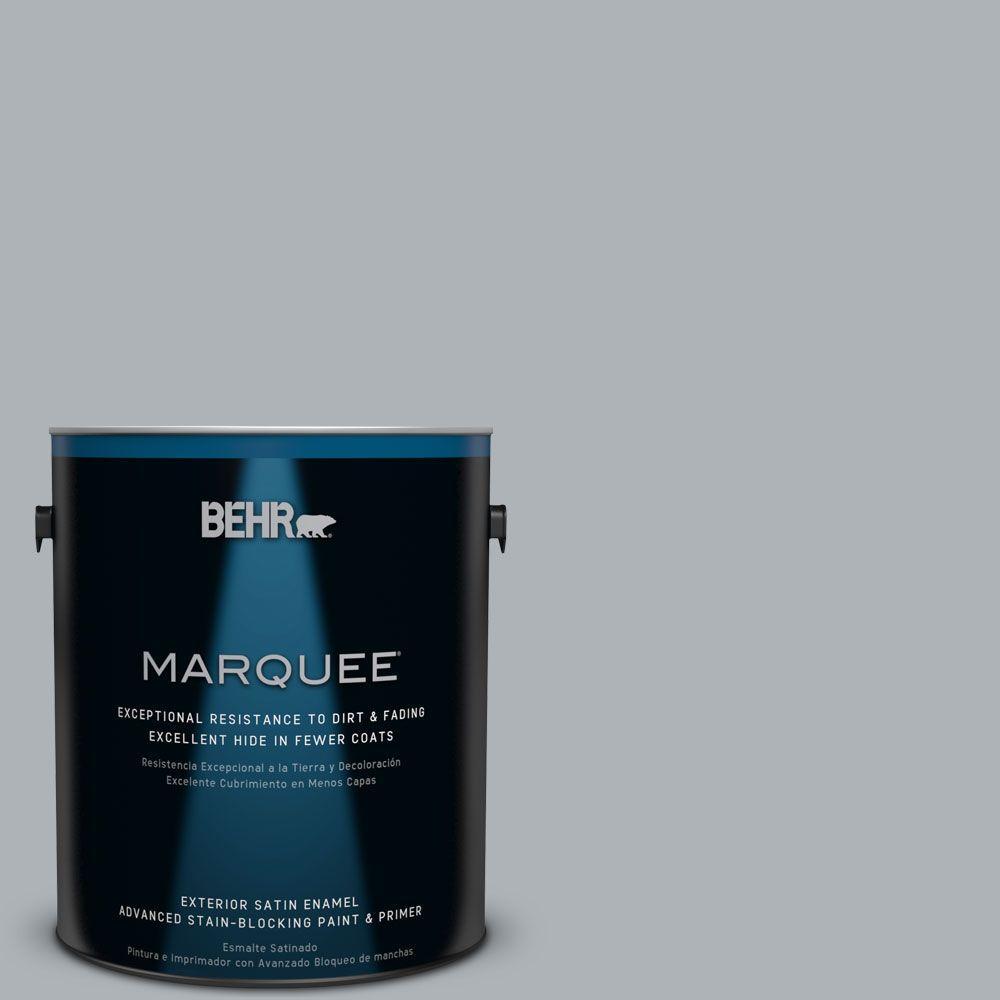 1 gal. #N510-3 Stargazer Satin Enamel Exterior Paint and Primer in
