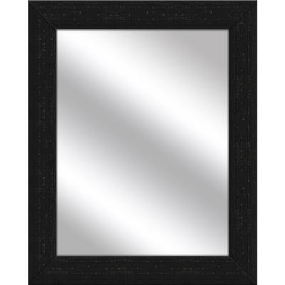 Medium Rectangle Black Art Deco Mirror (31 in. H x 25 in. W)