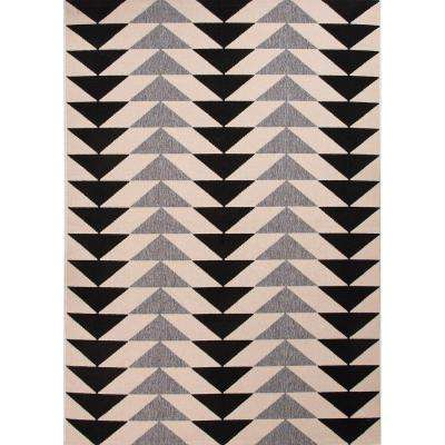 Mckenzie Jet Black 8 ft. x 10 ft. Tribal Area Rug