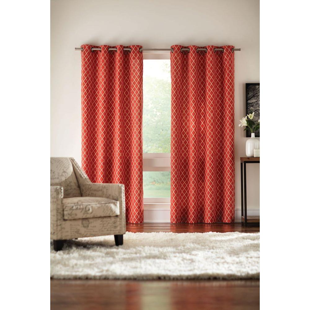Semi Opaque Chili Ogee Grommet Curtain