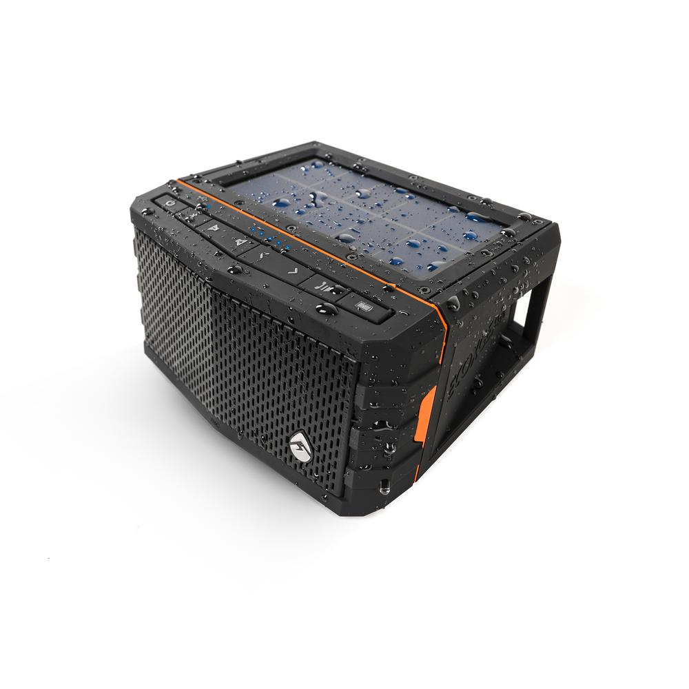 SolJam Solar Powered Waterproof Bluetooth Speaker, Black