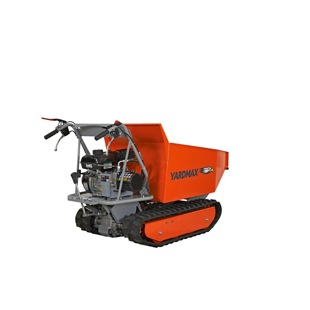 YARDMAX Power Trackbarrow with Hydraulic Assist- Hopper