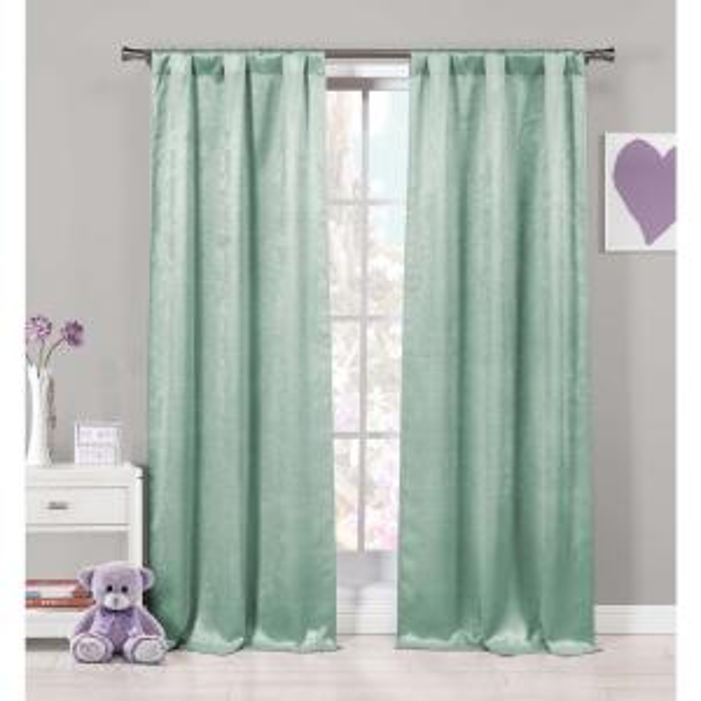 Duck River Textile Maddie Blackout Curtains Seafoam 37x84