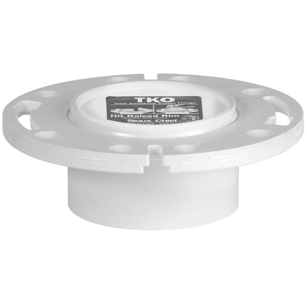 Sioux Chief 3 in. x 4 in. PVC Total Knockout Closet Flange