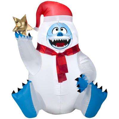 31.50 in. D x 27.56 in. W x 38.58 in. H Inflatable Sitting Bumble Holding Star