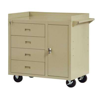 36 in. W x 22 in. D 4-Drawer Mobile Workbench with Storage
