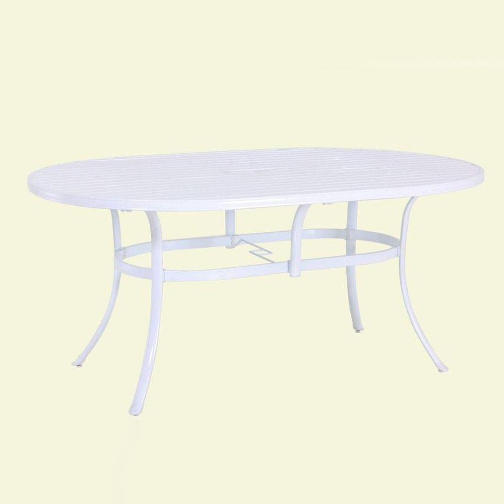 Hampton Bay Summerville Oval Patio Dining Table-DISCONTINUED