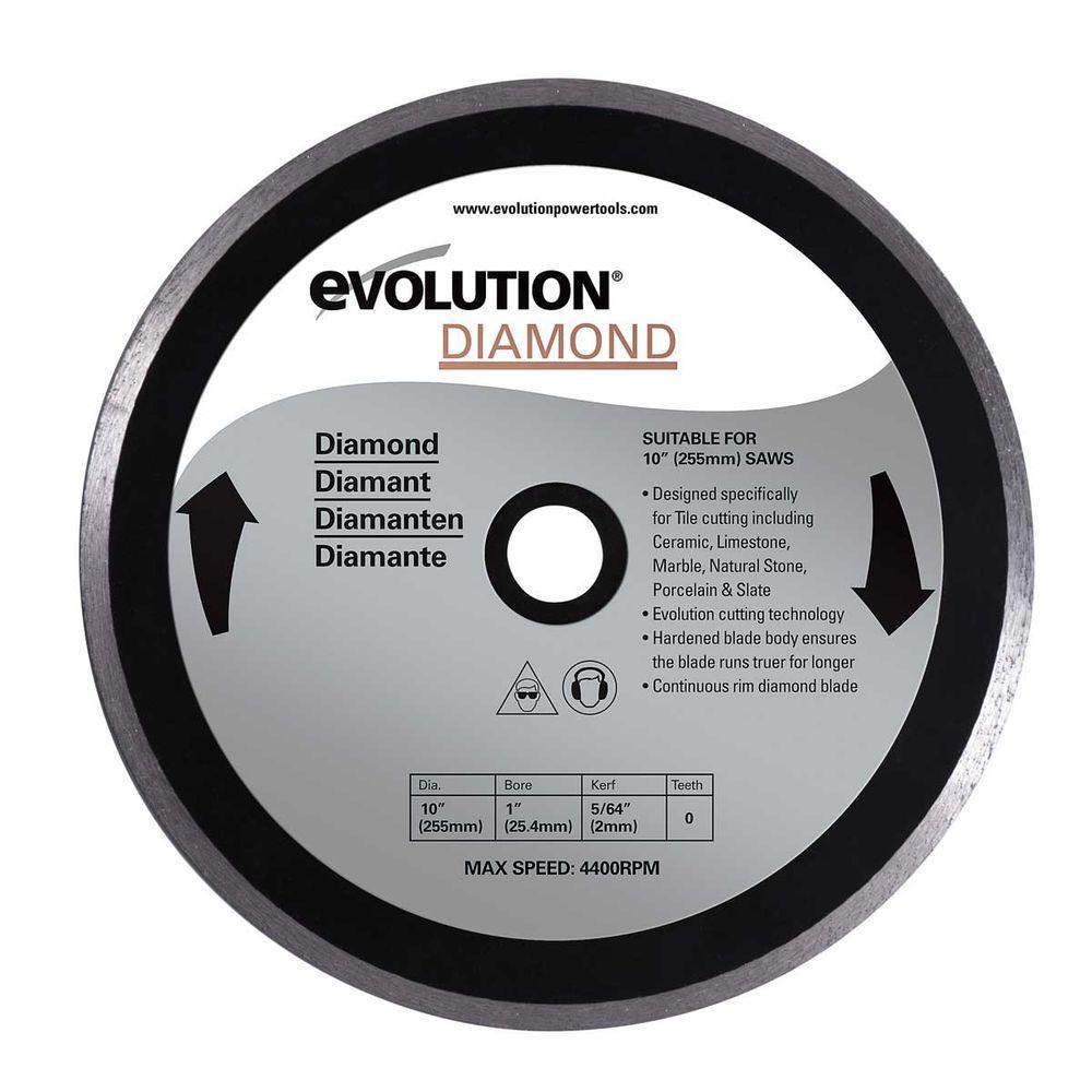 Evolution Power Tools 10 in. Diamond Tile Masonry Blade