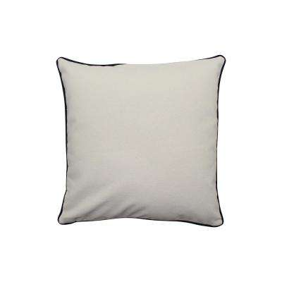 16 in. x 16 in. Natural  Standard Pillow with Green Eco Friendly Insert